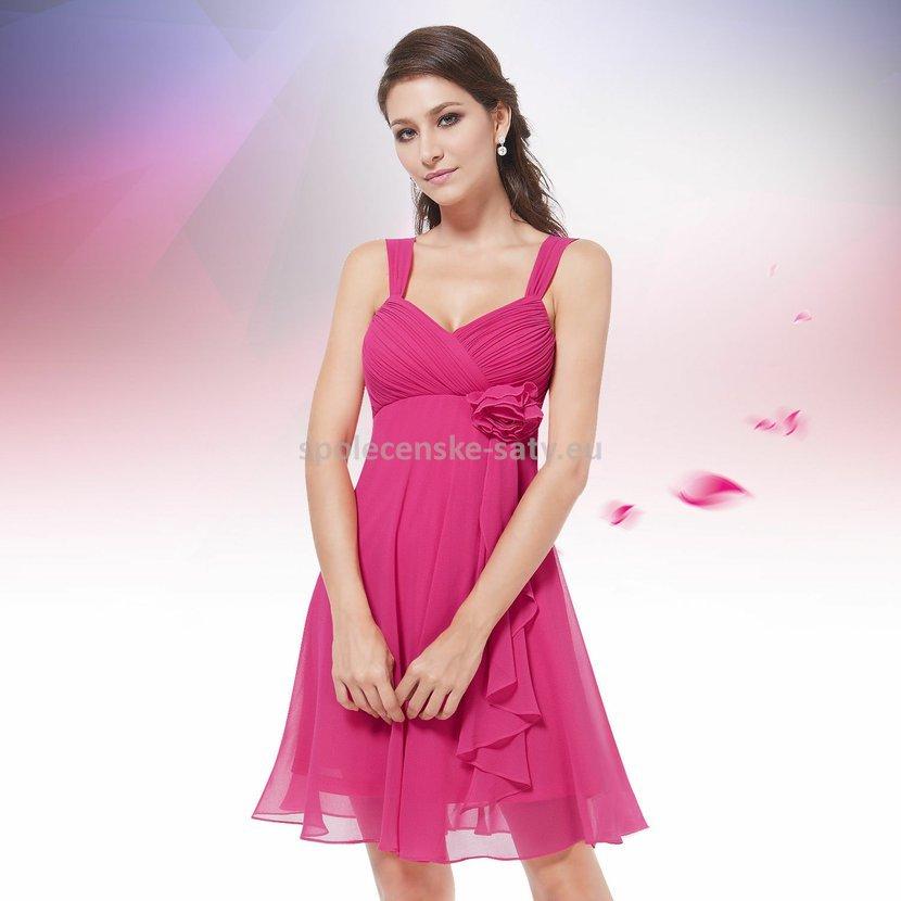 cb28b3e60e8 Růžové krátké společenské šaty koktejlky na svatbu promoce i pro těhotné 42  XL. letní ...