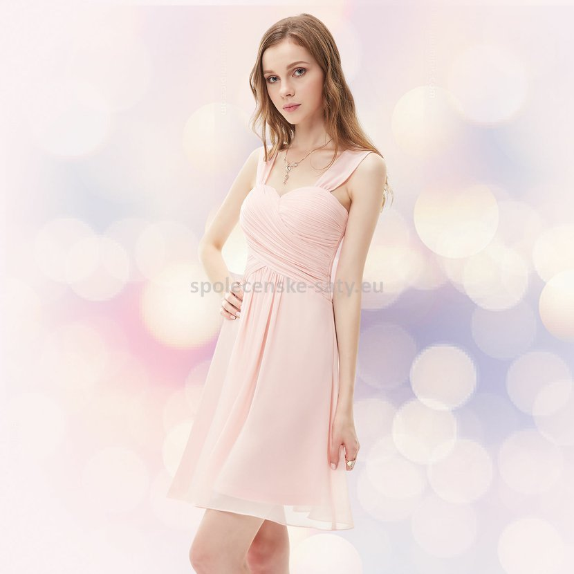 86aa7a746cd Růžové světlé krátké společenské šaty na svatbu koktejlky 40-42 ...
