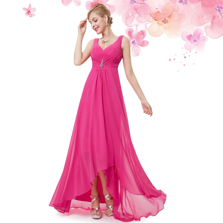 4ec97c674d4 Růžové pink plesové šaty vzadu delší na svatbu do tanečních 38 M ...