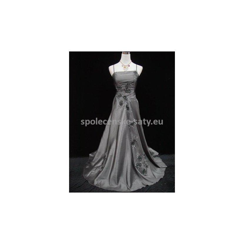b2ffb7d3f474 Stříbrné večerní šaty nadměrná velikost na ples svatbu 50-52 ...