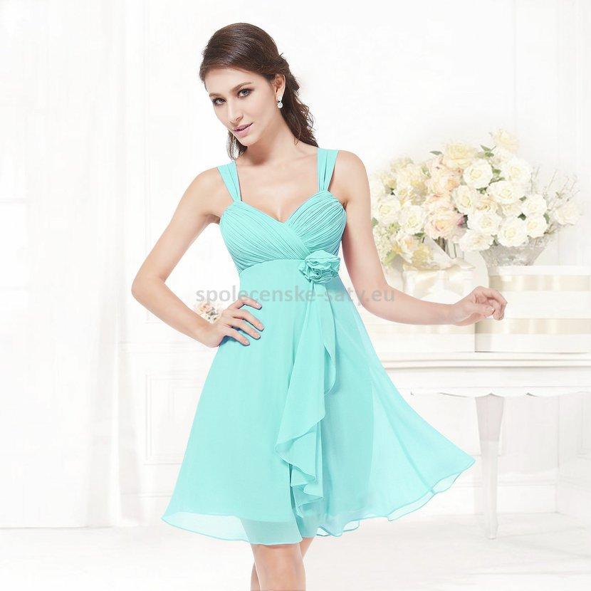 5e02d309522f Tyrkysové krátké společenské šaty na svatbu do tanečních 44 XXL ...
