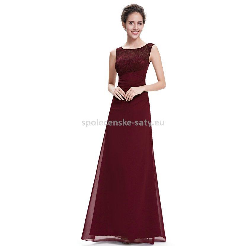 Vínové dlouhé společenské šaty na ples svatbu 46 XXXL  0c5c5042d7