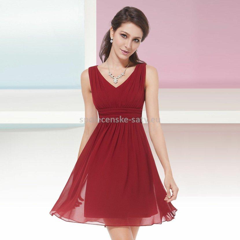 bc4ccdc0bba Červené krátké společenské šaty na svatbu promoce 44 XXL ...