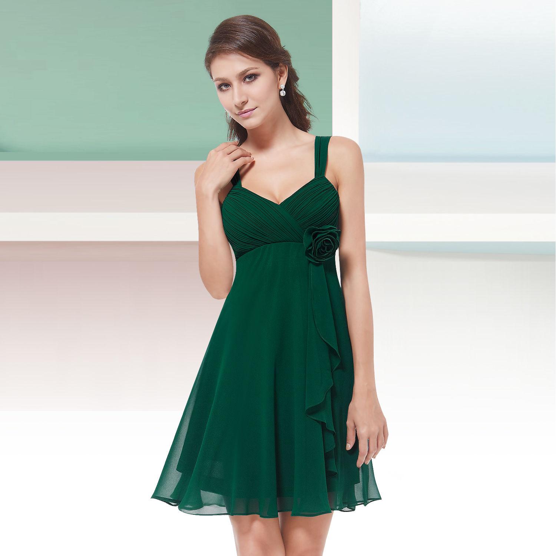 f6b51af90c60 Zelené krátké společenské šaty koktejlky na svatbu promoce i pro těhotné 38  M