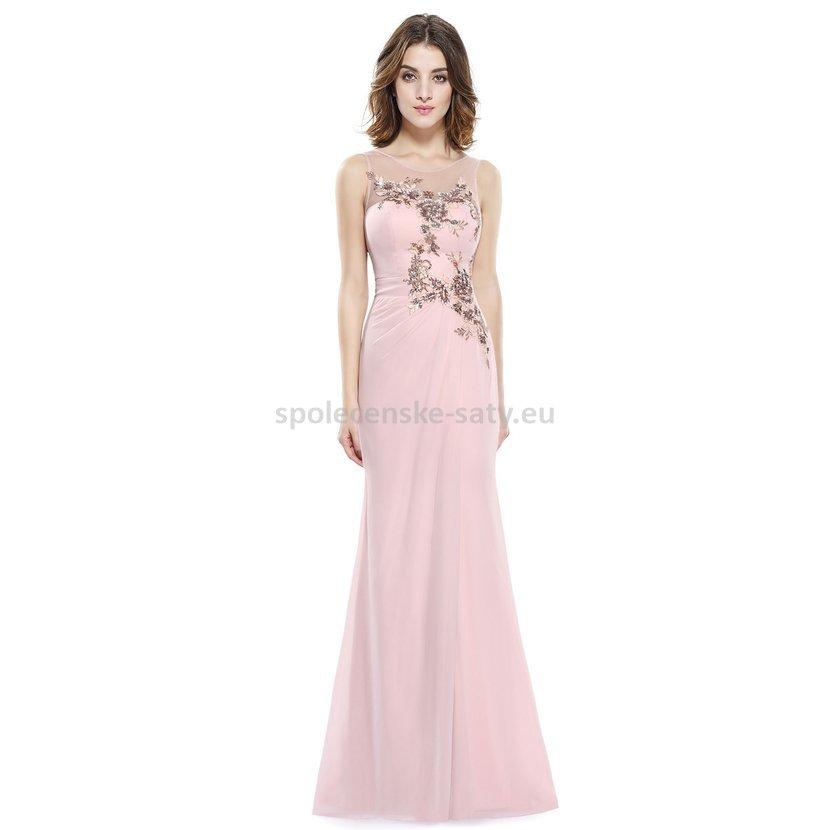 Luxusní růžové šaty 44 XXL na ples věneček svatbu  02e1f0b9059