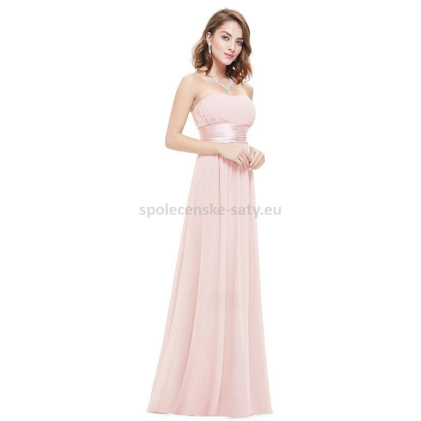 904a840c4a41 Růžové dlouhé společenské šaty na svatbu pro družičku svědkyni 44 ...