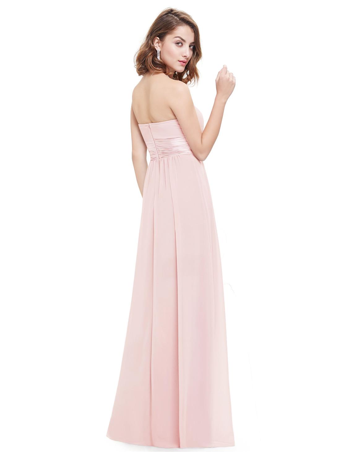 Růžové dlouhé společenské šaty na svatbu pro družičku svědkyni 44 ... b4aec6816f