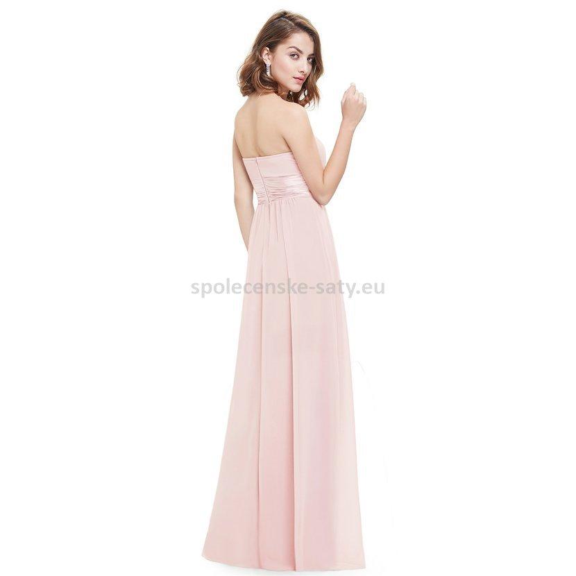 Růžové dlouhé společenské šaty na svatbu pro družičku svědkyni 44 ... 44ba7b85aa