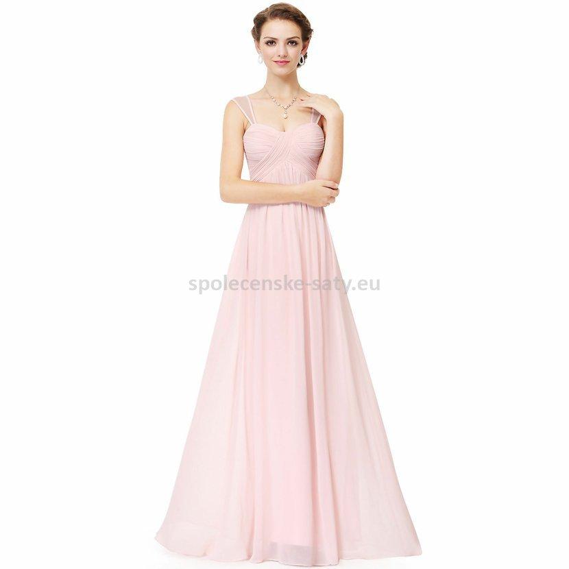 Růžové dlouhé svatební společenské šaty 44 pro těhotné  6c3fef0ecc