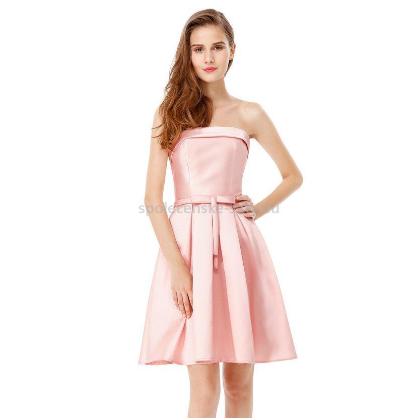 d4096d7aa32 Růžové krátké šaty koktejlky na svatbu ples 40-42