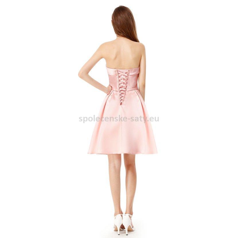 9b276a265e6 Růžové krátké šaty koktejlky na svatbu ples 38 M