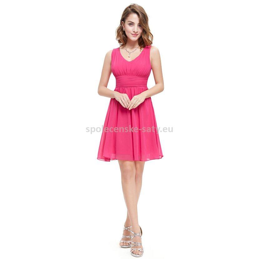 628fcd4a0516 Růžové krátké šaty společenské na hrubší ramínka na svatbu 42 xk ...