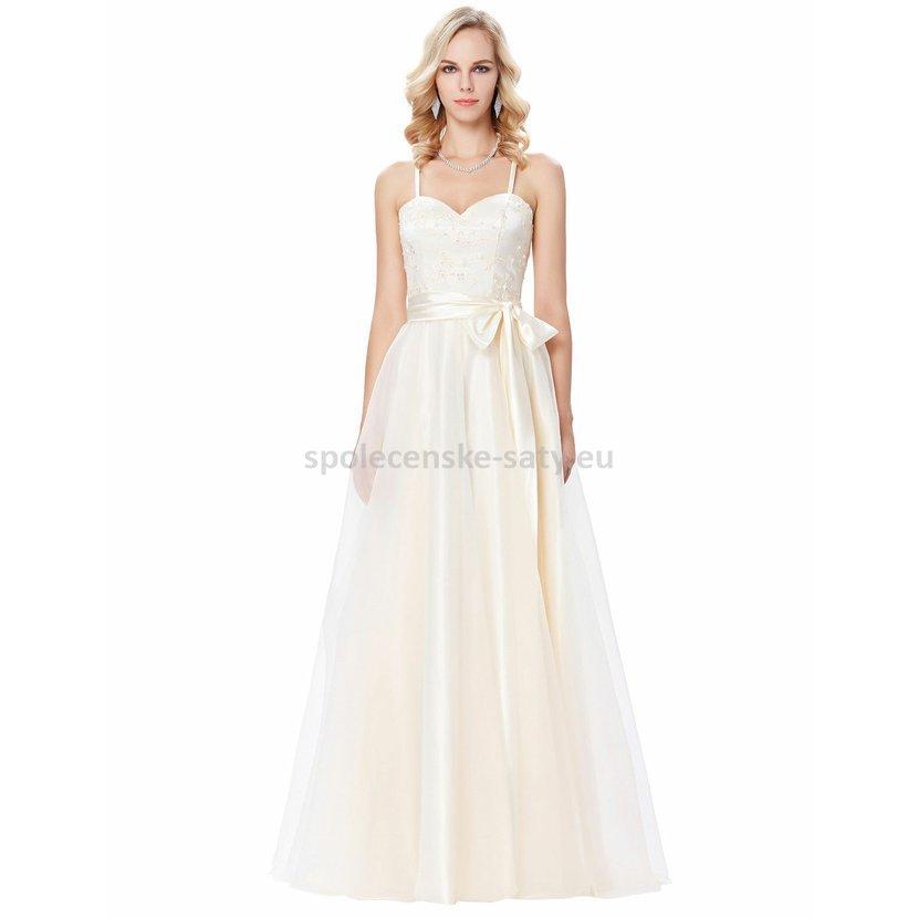 Šampaňské svatební šaty princeznovské 38 M  aeb925c651
