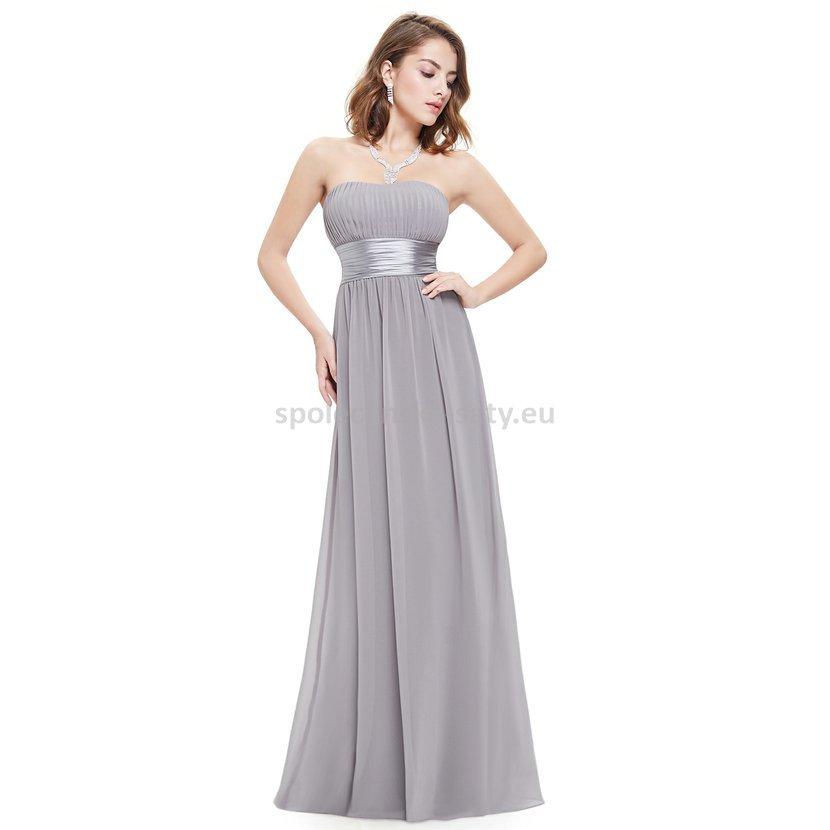 Šedé dlouhé společenské šaty na svatbu pro družičku svědkyni 44 ... 25776fb242
