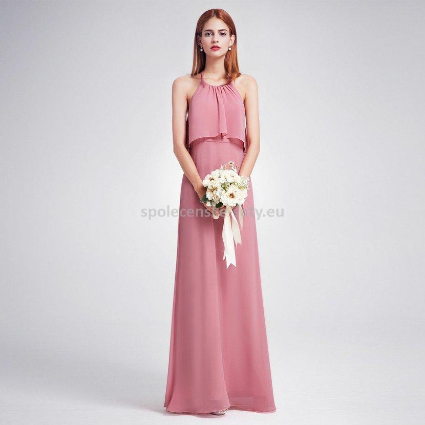 247ec1dc97a6 Starorůžové dlouhé společenské šaty na svatbu 44 XXL