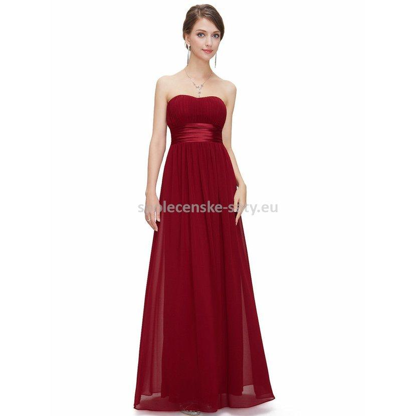 Vínové dlouhé společenské šaty na svatbu pro družičku svědkyni 40-42 ... 9dac7027c7