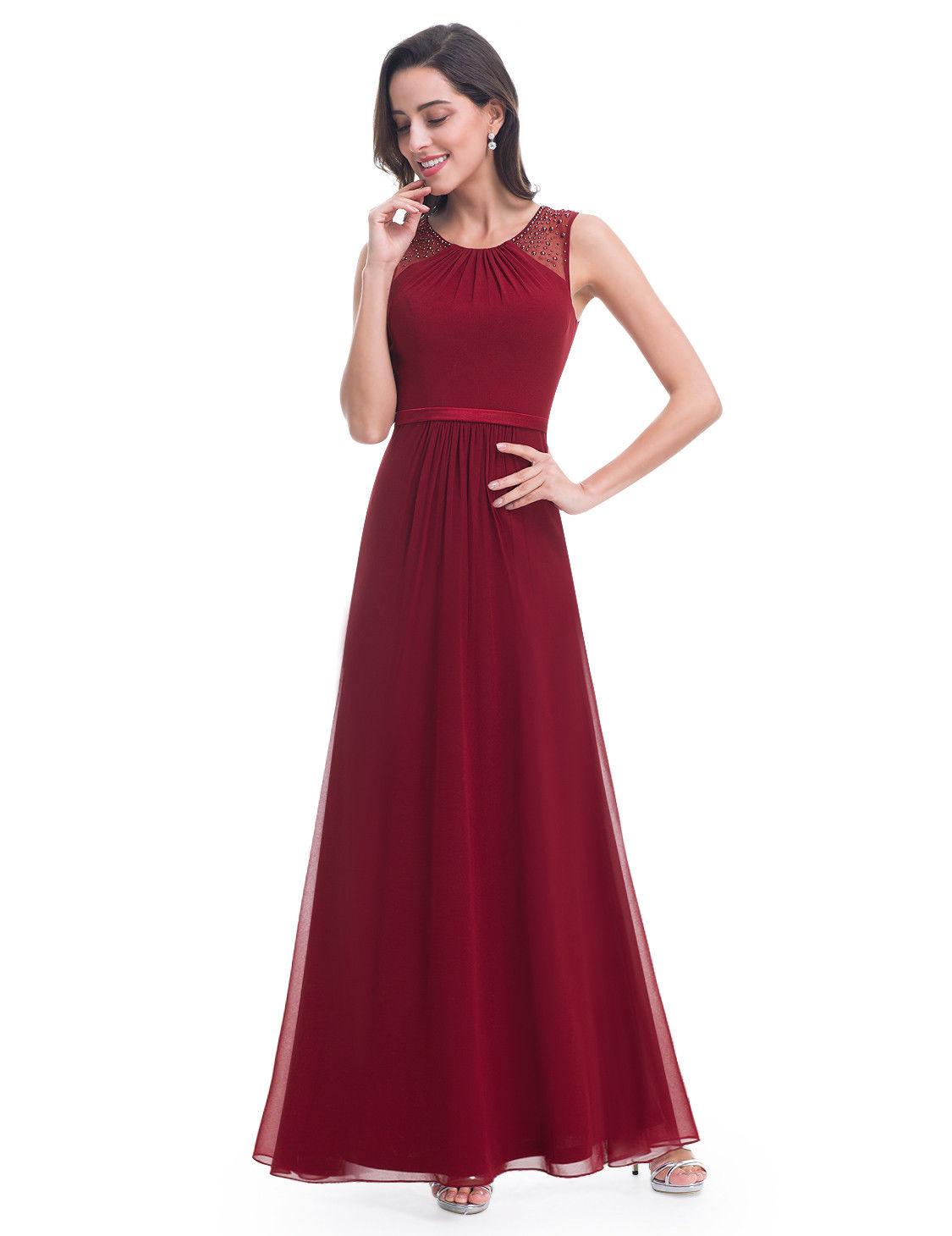 2d2c366c40e Vínové dlouhé společenské svatební šaty na hrubší ramínka 38 M ...