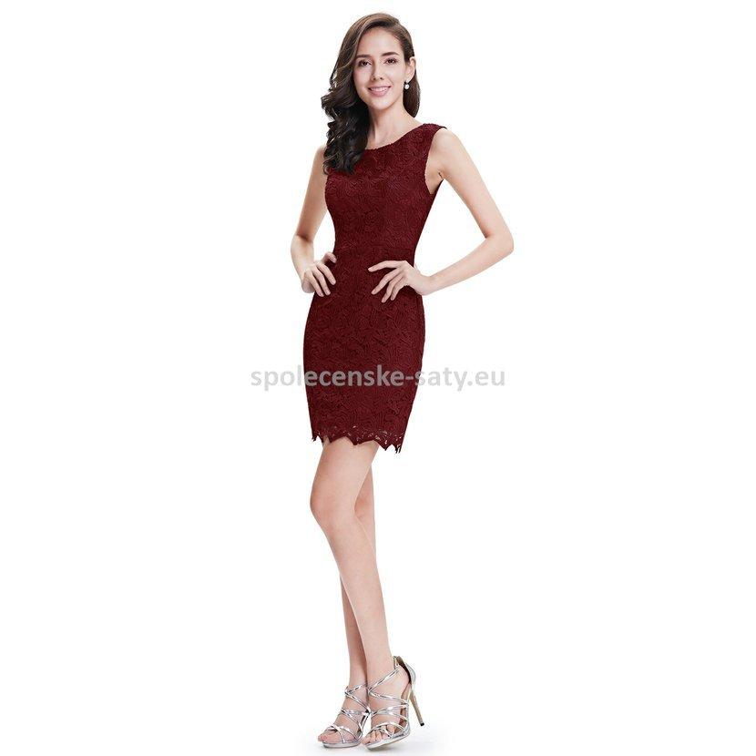 e1da804758e9 Vínové krátké společenské šaty krajkové koktejlky 42 xl ...