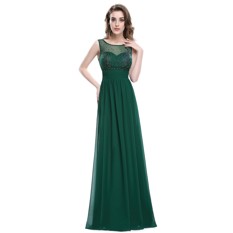 Zelené dlouhé šaty na ples svatbu 38 M  5f260e7ffab