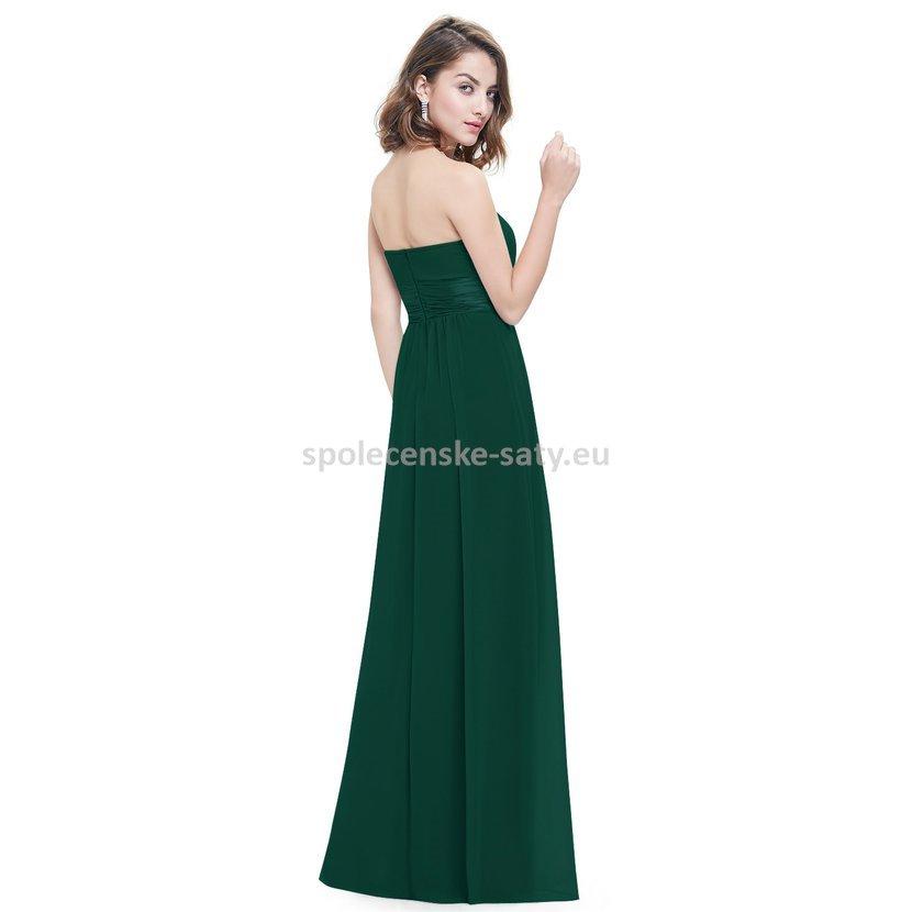 6f638cf6bf92 Zelené dlouhé společenské šaty na svatbu pro družičku svědkyni 38-40 ...