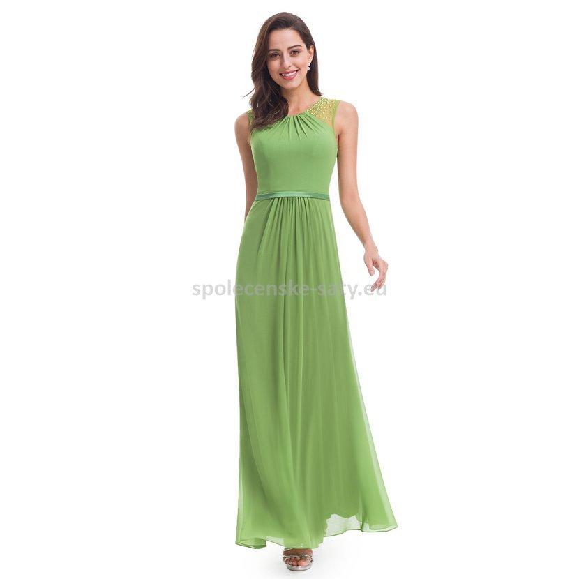Zelené dlouhé společenské svatební šaty na hrubší ramínka 42 XL ... 5d67ad7b5e