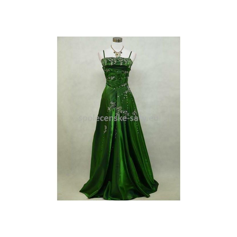 Zelené dlouhé šaty nadměrná velikost 50-52  17bc7ae69e