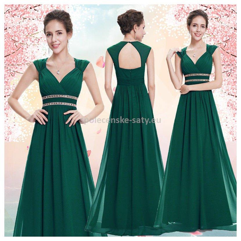 839eeaaf4df Zelené dlouhé společenské šaty ve stylu řecké bohyně 34 xs ...