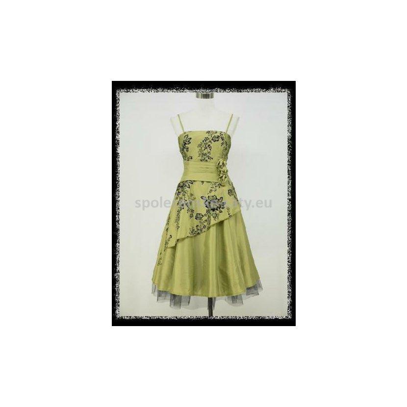 586dcfbc5fed Světle zelené hráškové šaty retro na svatbu koktejlky 48-50